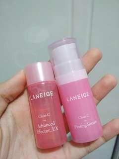 Laneige Clear C Peeling Serum 15ml + Advanced Effector EX 10 ml trial kit