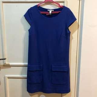 MANGO PREMIUM blue dress