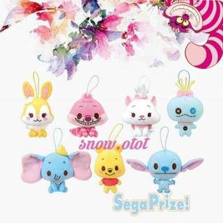 日版Disney Characters公仔掛飾☆日本直送 迪士尼/史迪仔/史迪奇/星際寶貝/小甘/小金/妙妙貓/愛麗斯夢遊仙境/小熊維尼/小飛象/瑪麗貓/賓尼/賓妮兔/stitch/scrump/Cheshire Cat/dumbo/marie cat/miss bunny/winnie The Pooh/plush/soft toy/kids doll