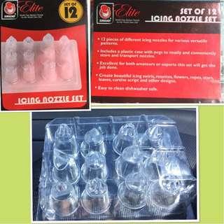 Elite set of 12 icing nozzle set
