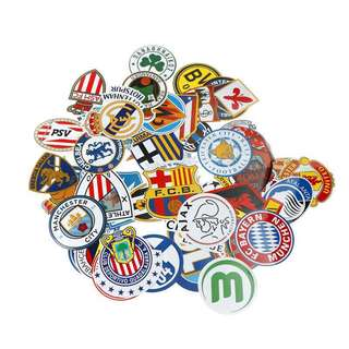 50pcs Football Club Luggage Sticker