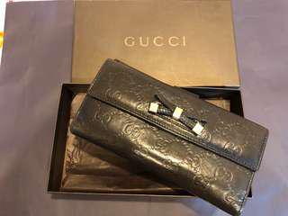 Gucci 蝴蝶結 皮夾
