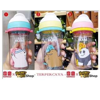 Japan Quality Miniso - Botol Minum Anak We Bare Bears Kids Bottle