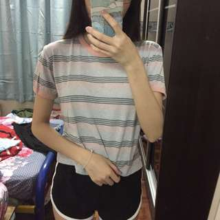 Cotton on T-Bar Striped Top