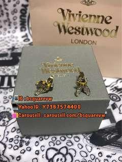 (現貨) 購自英國 2017春夏 Vivienne Westwood BUMBLE 合金 黃蜂 蜜蜂 土星耳環 (保証正貨及全新) 金色
