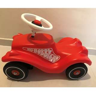 Very new : BIG Red BOBBY car (Make in Germany, retailed $155) -> toy / walker, + Push-pole