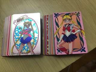 美少女 鐳射卡 1代 2代 full set 連紙卡 2套