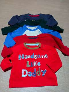 Baby Boy Tops Lot 5pcs (0-3M)