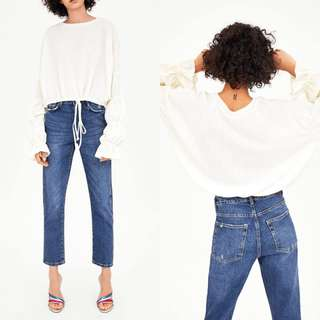 ZARA RELAXED MOM FIT JEANS