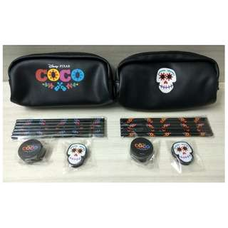 COCO MOVIE: PU Leather Zipper Pencil Stationery Bag SET X 2