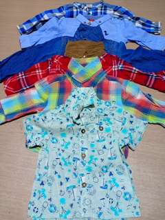 Baby Boy Tops Lot 6pcs (3-6M)