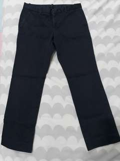 Uniqlo Dark Blue chino ankle pants