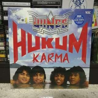 """WINGS 'Hukum Karma' 12"""" blue color vinyl LP"""