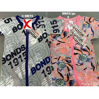 Bonds Zip Wondersuit Short Sleeves Size 0 1 2 3