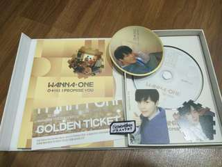 Wanna One I Promise You Day Version Full Set with poster