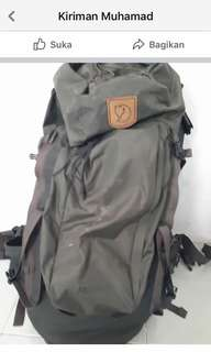 Tas Carrier Fjallraven second Abisko 65W