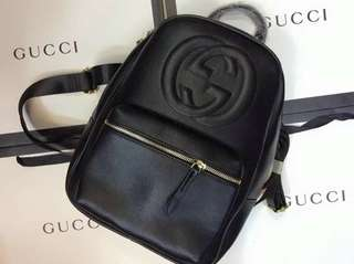 GUCCI LEATHER BAG PACK