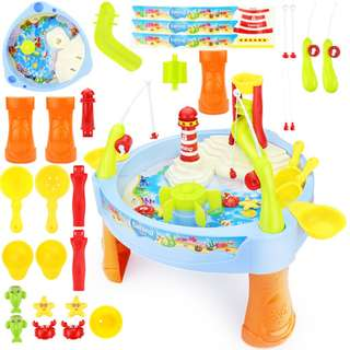 Kids fun learning Water park Play Splash Table Fishing Toy with Music light