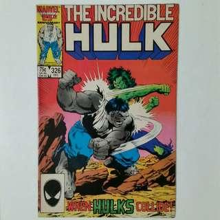 Incredible Hulk No.326 comic