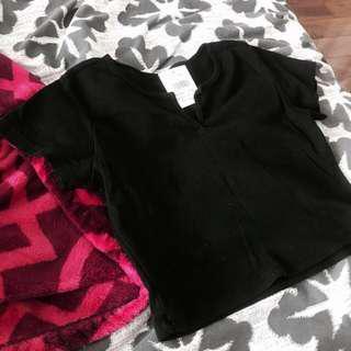 Black Brandy Melville Cropped Top