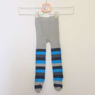 Legging tutup baby super keren 😍😍 - Salur Biru Abu
