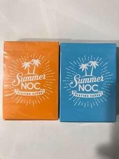 NOC summer Playing Cards blue/orange