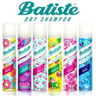 [IN-STOCK] Batiste Dry Shampoo - Oriental | Cherry | Tropical | Blush | Fresh | Original | Bare