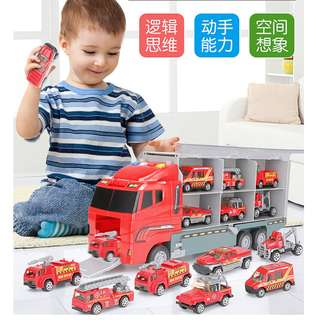 Kids toys 7 in 1 set Car toy Big Truck with sound & light Alloy Model Car Engine