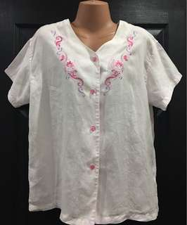 👚Pre-loved Plus size Baby Pink Blouse