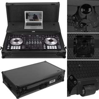 UDG Ultimate Flight Case Pioneer DDJ-RZ/SZ/SZ2 Black MK2 Plus (Laptop Shelf + Wheels)
