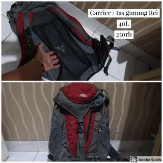 Tas carier / tas gunung backpack Rei 40L