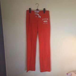 Abercrombie & Fitch Orange Sweatpants XS