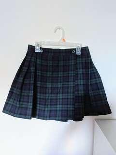 Vintage Pleated Tartan Kilt (Size X-Small)