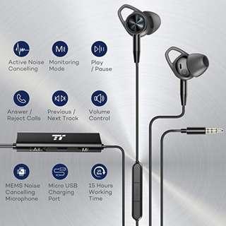 TaoTronic 有線抗噪音耳筒