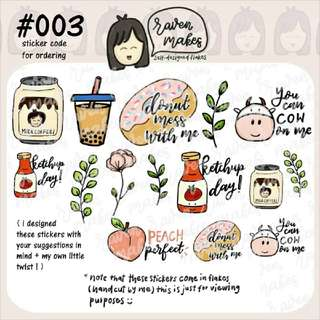 ROJAK cute planner stickers #003
