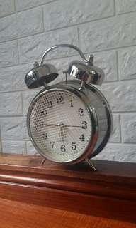 Ringing crome clock