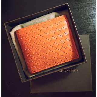 Brand New Bottega Veneta Wallet (Orange)