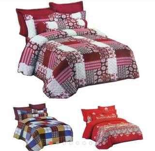 🌸🌸 Set Cadar 6 in 1 Super Queen Quilt Patchwork Offer 🌸🌸 High Quality - Cotton material