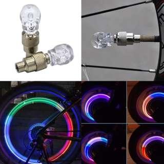 Skull 💀 Tyre valve caps with light (1pc)