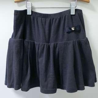 NET Kids 深藍色 愛心 褲裙 12號 150cm