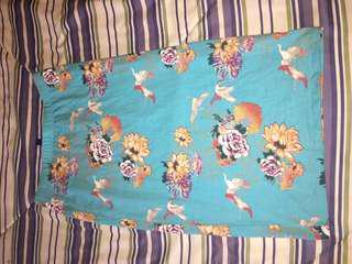 Blue Bodycon Flower Skirt