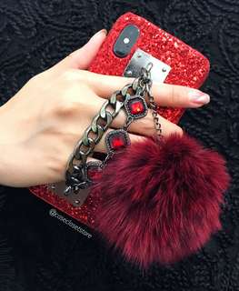 iPhone Red Diamond Style Case