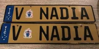 V NADiA car number plates