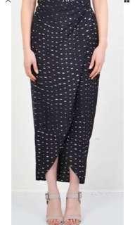 Stevie May Acid Rain Silk Skirt - Navy size Small