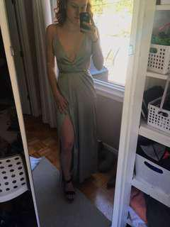 Light grey/silver Maxi dress