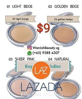 Wardah lightening twc powder foundation on SALE $9 nett price halal cosmetic product face cream moisturizer