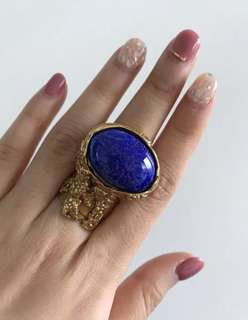 YSL Arty Ring Blue size 7 *Authentic*