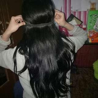 Rambut Sambung / Hairclip Asli Human Hait