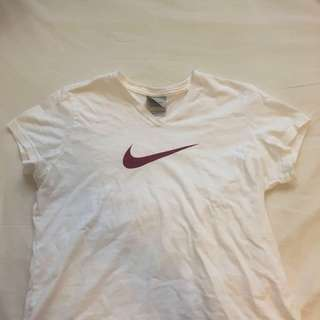 Vintage white Nike V-Neck T-Shrit