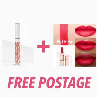 ‼️FREE POSTAGE IF YOU BUY BOTH OF THESE ITEMS COLOURPOP MATTE LUX LIPSTICK HI STRIKER ULTRA GLOSSY LIP